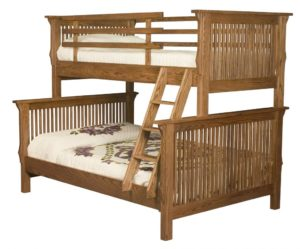 INDIAN TRAIL - Full Twin Mission Bunk Bed - Dimensions: Available in Full-Twin or Twin/Twin 68 inches H