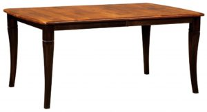 WEST POINT - Newburry Leg Table - Dimensions (in inches): 42x60, 42x66, 42x72, 48x60, 48x66, and 48x72 with up to 4 leaves - Custom finish options available, please see store for details.