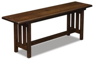 A & J - Bay Hill Trestle Bench : 48w x 12.5d x 18h, call store for additional sizes.