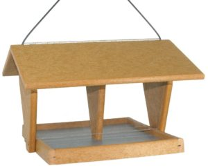 SUPERIOR WOODCRAFTS - Tan Double Hopper Poly Bird Feeder
