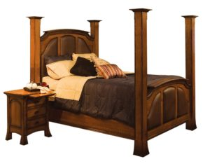 SCHWARTZ - Breckenridge Bed - Dimensions: Posts 76 inch, In between HB posts 69 inches height. In between FB posts 38 inches. Overall Size: King 87 inch x 94.5 inch, Queen 71 inch x 94.5 inch, Full 65 inch x 90.5 inch.