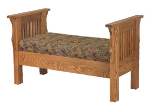INDIAN TRAIL - Mission Bed Seat - Dimensions: 29 inch x 26 inch x 47.5 inches