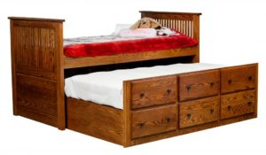 "INDIAN TRAIL - Captain Bed - Dimensions: HB 46"", FB 46"""