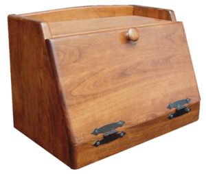 SUPERIOR WOODCRAFTS - Plain Cherry Bread Box: Dimensions (in inches): 15.5 x 10 x 12