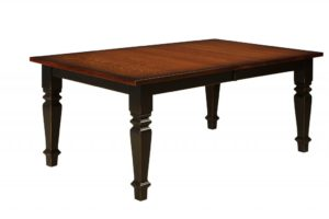 WEST POINT - Stanwood Leg Table - Dimensions (in inches): 42x60, 42x66, 42x72, 48x60, 48x66, or 48x72 with up to 4 leaves - Custom finish options available, please see store for details.