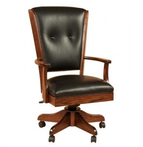 F & N - Berkshire Arm Chair - Dimensions (in inches): 24.5 inches w x 19 inches d x 42-46 inches h.