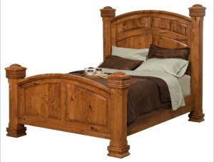 SCHWARTZ - Charleston Bed - Dimensions: HB posts 71.5 inch, In between posts 68 1/4 inch height FB posts 38 inch, Overall Size: King 88 inch x 95 1⁄2 inch Queen 72 inch x 95.5 inch Full 66 inch x 91.5 inch.