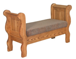 INDIAN TRAIL - Classic Sleigh Bed Seat - Dimensions: 32 inch x 19.5 inch x 54.5 inches