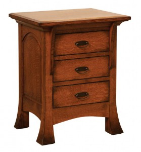 SCHWARTZ - Breckenridge Nightstand - Dimensions: 3 drawers, 24w x 18.25d x 29.5h
