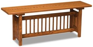 A & J - Classic Mission Trestle Bench - Dimensions (in inches):48w x 12.5d x 18h, call store for additional sizes.