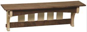 SUPERIOR WOODCRAFTS - Maple Walnut Aspen Mission Shelf - Dimensions (in inches): 36 x 8 x 12.