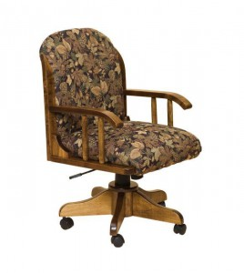 F & N - Delray (Kevco Base) Desk Chair - Dimensions (in inches): 22 inches w x 20 inches d x 38 inches - 42 inches h.