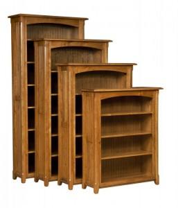 L & N - Ashton Bookcases: 40x14x84 w/ 6 Shelves, 40x14x72 w/ 5 Shelves, 40x14x60 w/ 4 Shelves, 40x14x48 w/ 3 Shelves.
