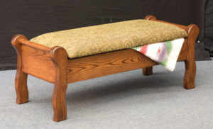 INDIAN TRAIL - Sleigh Bed Seat - Dimensions: 18.5 inch x 19.25 inch x 50.25 inches