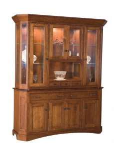 TOWNLINE - Albany 4-Door Hutch - Dimensions (in inches): 20d x 70w x 84h - Also available as base-only sideboard - Custom features and finish options available, please see store for details.