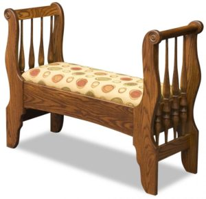 A & J - Sleigh Bench - Dimensions (in inches):44w x 16d x 34h.
