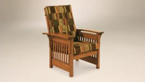 AJ's - Bow Arm Slat Chair: 32w x 34d x 41h.