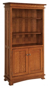 SCHWARTZ - Kenwood Bookcase w/Doors SC-3665 - Dimensions (in inches):36w x 14.25d x 65h.