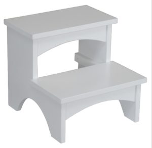 SUPERIOR WOODCRAFTS - Painted Bed Step - Dimensions (in inches): 17 x 18 x 16.