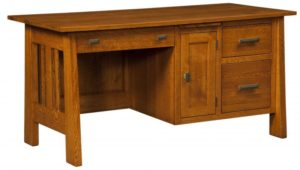 L & N - Freemont Mission Computer Desk - Dimensions (in inches): 64x28x31, 20 inch Drawer.
