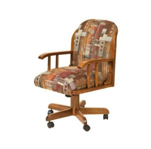 F & N - Delray Desk Chair - Dimensions (in inches): 22 inches d x 20 inches d x 28 inches - 42 inches h.