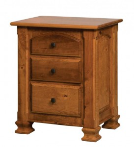 SCHWARTZ - Charleston Nightstand - Dimensions: 3 drawer, 27w x 19.5d x 32.5h