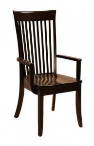 F & N - Carlisle Arm Chair - Dimensions (in inches): 23w x17d x42h - Other available styles include side chair, arm bench, swivel bar stool, stationary bar stool, and desk chair.