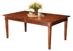 WEST POINT - Ethan Leg Table- Dimensions (in inches): 42x60, 42x66, 42x72, 48x60, 48x66, 48x72, with up to 4 leaves - Custom finish options available, please see store for details.