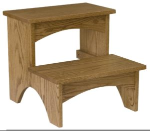 SUPERIOR WOODCRAFTS - Bed Step - Dimensions (in inches): 17 x 18 x 16.