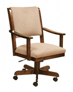 F & N - Paragon Desk Chair - Dimensions (in inches): 20 inches w x 18.5 inches d x 38-42 inches h.