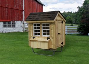 Alpine Structures - Chicken Coop - Size = 3 foot x 4 foot. Shown with barn siding. Please call store for details.