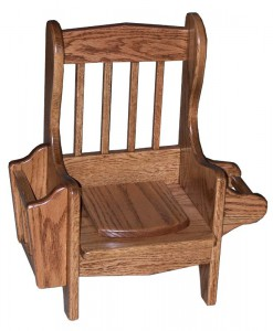 SUPERIOR WOODCRAFTS - Mission Potty Chair, With lid - Dimensions (In inches): 19 x 10.5 x 20.5.
