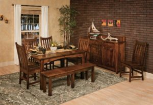 WEST POINT - Heidi Leg Table, Houghton Side Chairs, and Heidi Bench Collection - Table Dimensions (in inches): 42x60, 42x66, 42x72, 48x60, 48x66, or 48x72 with up to 4 leaves - All pieces sold separately - Custom finish options available, please see store for details.