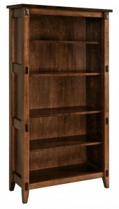 SCHWARTZ - Bungalow Bookcase SC-3665 - Dimensions (in inches): 36w x 14.5d x 65h.