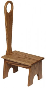 SUPERIOR WOODCRAFTS - Bench w/ Handle - Dimensions (in inches): 14 x 9.5 x 29.5.