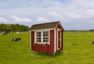 Alpine Structures - Chicken Coop - Size = 4 foot x 6 foot. Shown in painted red siding. Please call store for details.