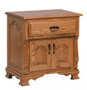 SCHWARTZ - Classic Heritage Nightstand - Dimensions: 1 drawer, 2 doors 26.5w x 18d x 27h