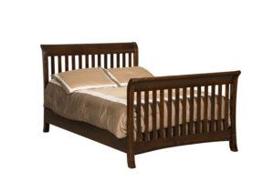 "OLD TOWN OAK -Berkley Double Bed - Dimensions: 55½""w x44.5""h"