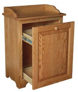 SUPERIOR WOODCRAFTS - Slide Out Waste Bin: Dimensions (in inches): 21.5d x 13.5w x 30.5h - Waste bin included - Custom finish options available, please see store for details.