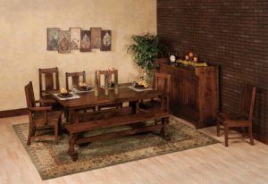 WEST POINT - Manchester Trestle Table, Benson Side Chair, and Manchester Bench Collection - Table Dimensions (in inches): 42x60, 42x66, 42x72, 48x60, 48x66, or 48x72 with up to 3 leaves - All pieces sold separately - Custom finish options available, please see store for details.