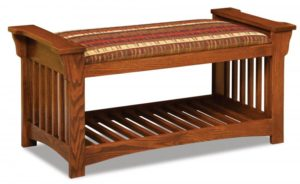 A & J - Mission Slat Bench - Dimensions (in inches):44.25w x 19d x 21h.