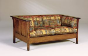 AJ's - Cubic Panel Loveseat: 65w x 34.5d x 29h (solid bottom standard, springs optional).