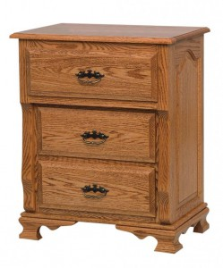 SCHWARTZ - Classic Heritage Nightstand - Dimensions: 3 deep drawers, 26.5w x 18d x 32.5h