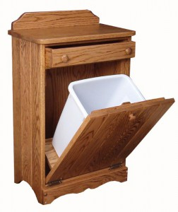 SUPERIOR WOODCRAFTS - Waste Bin Tilt Out with Drawer (W020920): Dimensions (in inches): 21d x 14w x 34h - Waste bin included - Custom finish options available, please see store for details.