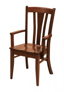 F & N - Meridan Arm Chair - Dimensions (in inches): 25w x 17.5d x 40h - Other available styles include side chair, swivel bar stool, stationary bar stool, and desk chair.