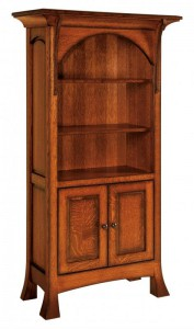 SCHWARTZ - Breckenridge Bookcase w/ Doors SC-3665 - Dimensions (in inches): 36w x 16.5d x 65h.