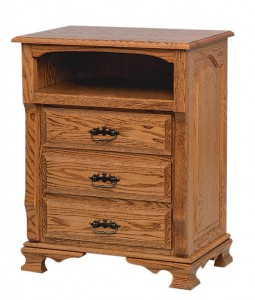 SCHWARTZ - Classic Heritage Nightstand - Dimensions: 3 drawers with opening, 26.5w x 18d x 34h