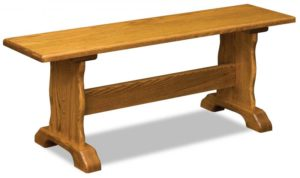 A & J - Traditional Trestle Bench - Dimensions (in inches):48w x 12.5d x 18h, call store for additional sizes.