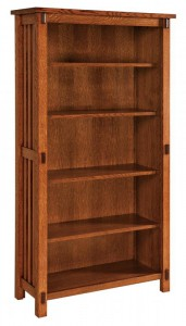 SCHWARTZ - Rio Mission Bookcase SC-3665 - Dimensions (in inches): 36w x 14.5d x 65h.
