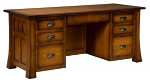L & N - Bridgefort Desk - Dimensions (in inches): 72x32x31, 26 inch Drawers, 72x28x31, 22 inch Drawers 72x24x31, 18 inch Drawers.